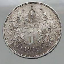 1916 AUSTRIA Hungary Empire Franz Joseph I Antique Silver 1 Corona Coin i62976 http://lukebadcoe.blogspot.com/2017/09/1916-austria-hungary-empire-franz_98.html