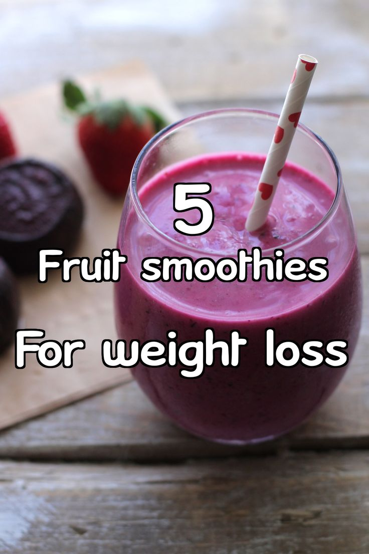 fruit smoothies for weight loss homemade