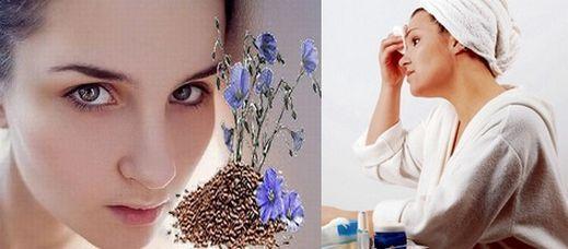 льняное семя в составе масок для кожи лица
