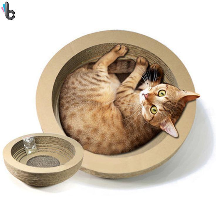17 best ideas about cat scratcher on pinterest diy cat toys cat trees and cat houses - Cat bed scratcher ...