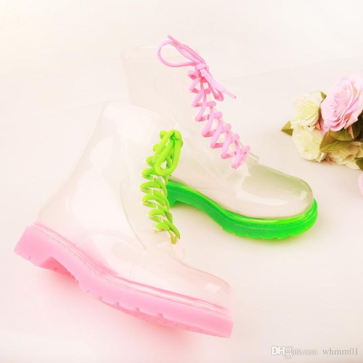 Wholesale cheap pvc transparent rain boots women type -sweet pvc transparent rain boots women lace up fetish martin boots spring summer waterproof ankle boots for women creepers shoes short botas from Chinese rain boots supplier - whmm01 on DHgate.com.