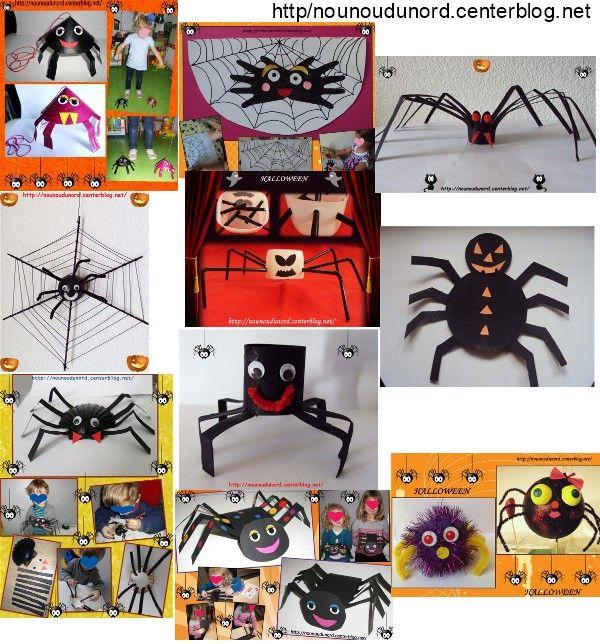 les araign es d couvrir dans ma rubrique halloween sur mon blog activit s halloween. Black Bedroom Furniture Sets. Home Design Ideas