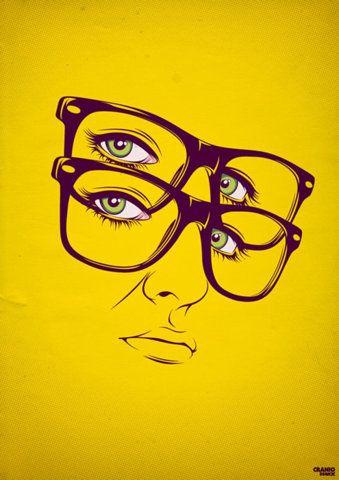 Double Glasses: Natural Skin, Skin Care, Self Portraits, Illustration, Graphics Design, Cool Artworks, Craniodsgn, Alejandro Garcia, Eye