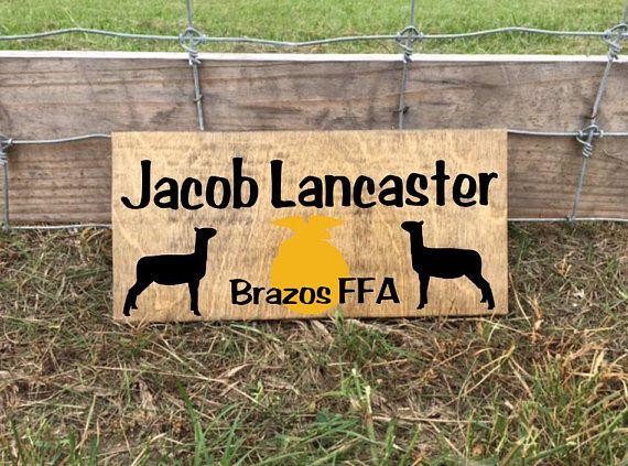 Show Lamb FFA Lamb Show Sheep Stall Sign Barn Stall Sign