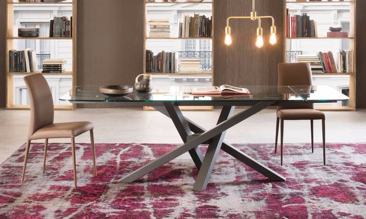 Table Shangai Big by RIFLESSI  Shanghai Big Solid Wood Extendable Dining Table  The Shangai Big solid wood extendable dining table is a veritable contemporary design chameleon. You can choose from 200 customization options to create your perfect dining table. The Shangai extendable table is available with a solid oak top supported by an asymmetrical cross leg base made from coated aluminum.  http://www.format-store.com/en/prod/tables/tables-86/table-shangai-big-by-riflessi.html