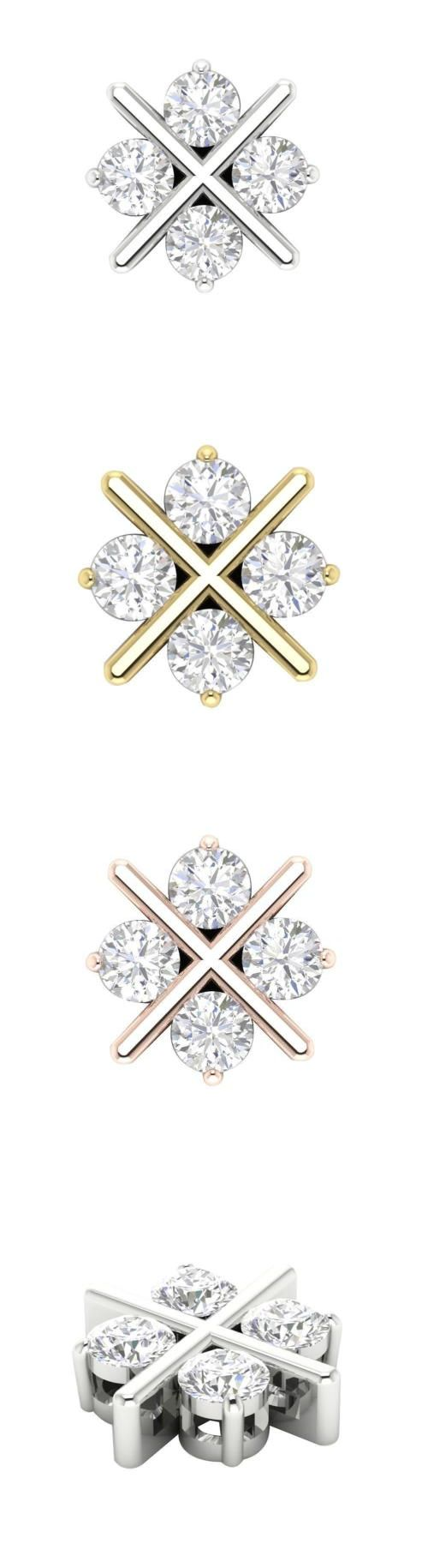 Diamond 164331: Genuine Diamond 1.00Ct Prong Set Fashion Pendant Necklace 14Kt Solid Yellow Gold -> BUY IT NOW ONLY: $661.67 on eBay!