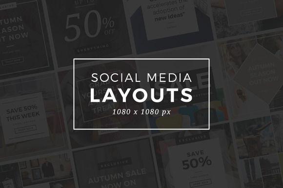 Social Media Layouts by Medialoot on @creativemarket
