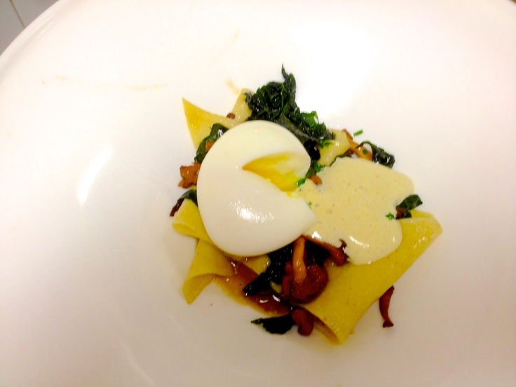 Soft Farm Egg with Braised Greens, By Tim LaBant www.timlabantevents.com