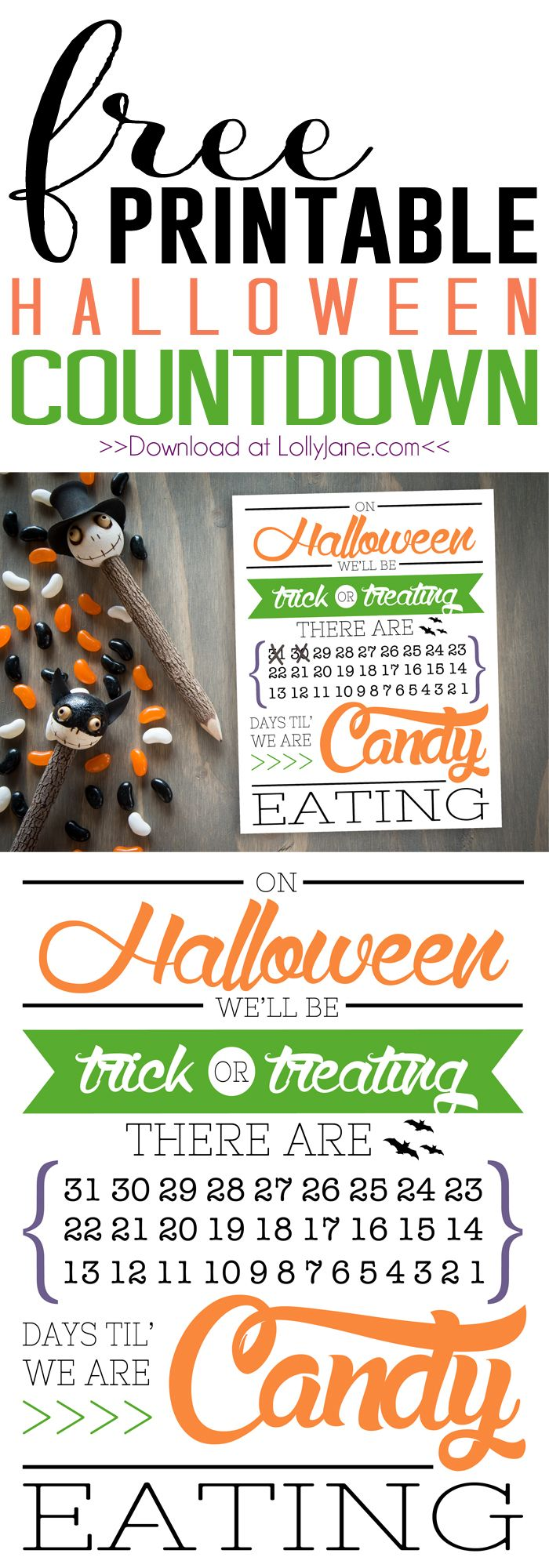 Cute DIY Halloween countdown. Fun holiday decor idea.