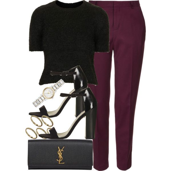 Style #7313 by vany-alvarado on Polyvore featuring polyvore, fashion, style, Topshop, Yves Saint Laurent, Burberry and ASOS
