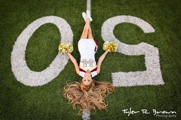 Lie out on the football field if that's where you really thrive. | 47 Brilliant Tips To Getting An Amazing Senior Portrait