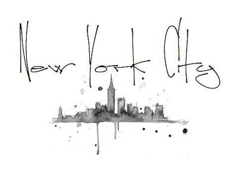 NYC: Cities Tattoo, Art, New York Cities Skyline Tattoo, City Skylines, New York City, York States, Nyc, Newyork, Cities Dreams
