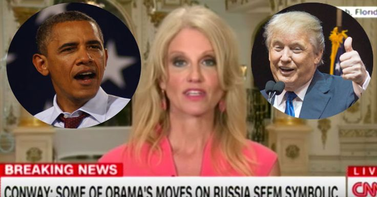 Barack Obama is not just a bad President, he is a bad man. He is cruel, selfish, and extremely vindictive. Now, Thanks to Kellyanne Conway, we finally can see his sick plan to screw over Donald Trump and America!  Conway revealed to CNNthat Obama has been taking calculated steps to RUIN Trump's p