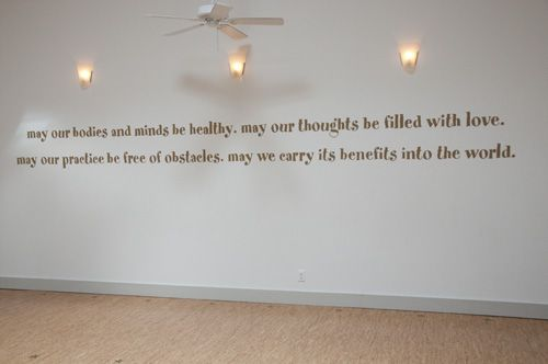 intention..for my future yoga studio...someday