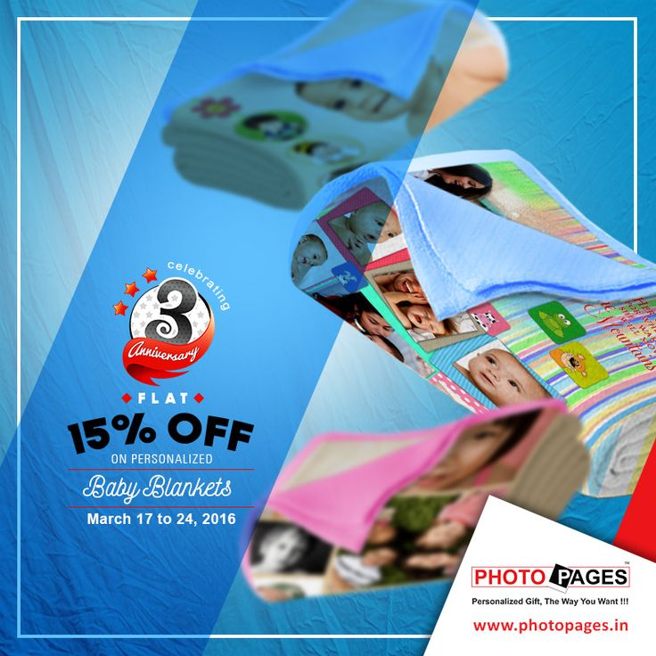 Personalize your baby's blanket and pamper your baby with warmth, love and affection. Get a photo printed on the blanket that your baby is fond of. ‪#Personalized  #BabyBlankets #Gift #PersonalizedGift #PhotoPages #Ahmedabad  ‪Personalized Baby Blankets: http://ow.ly/ZH8yt
