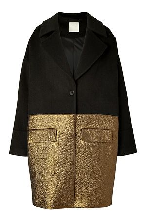 STYLEBOP.com | Black Wool-Blend Combo Coat by HAKAAN | the latest trends from the capitals of the world