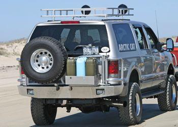 Ford Excursions 99-05 Rear Bumper aluminum swingarm frame w brush guard storage