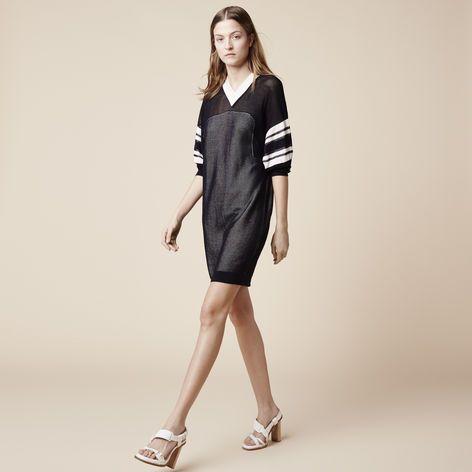 FASHION SHOW PRINTED LONG SLEEVE SWEAT-SHIRT DRESS