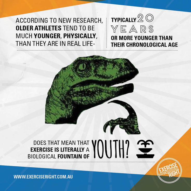 Exercise may be a kind of biological fountain of youth, according to new research showing older athletes tend to be much younger, physically, than they are in real life.  #ExerciseRight #Exercise #FountainofYouth #Philosoraptor #Age #Health #Fitness #Meme #ExerciseScience