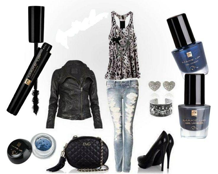 - m002 3 step mascara - c016 Ombretto minerale in polvere - Smalti: n006 Denim shine, n007 Catty grey