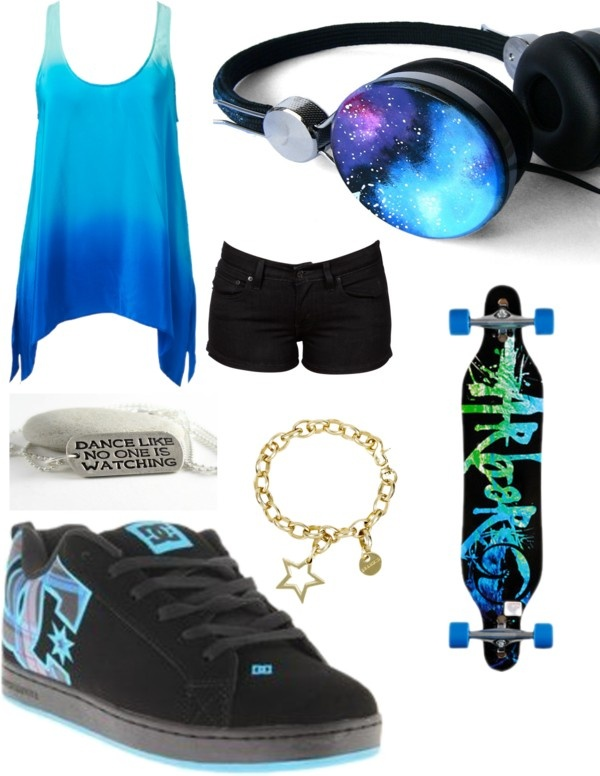 """skater girl"" by nailpolishlover42 ❤ liked on Polyvore."