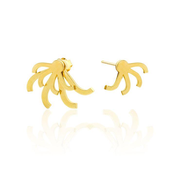 Leonore earrings - golden by SMITH/GREY