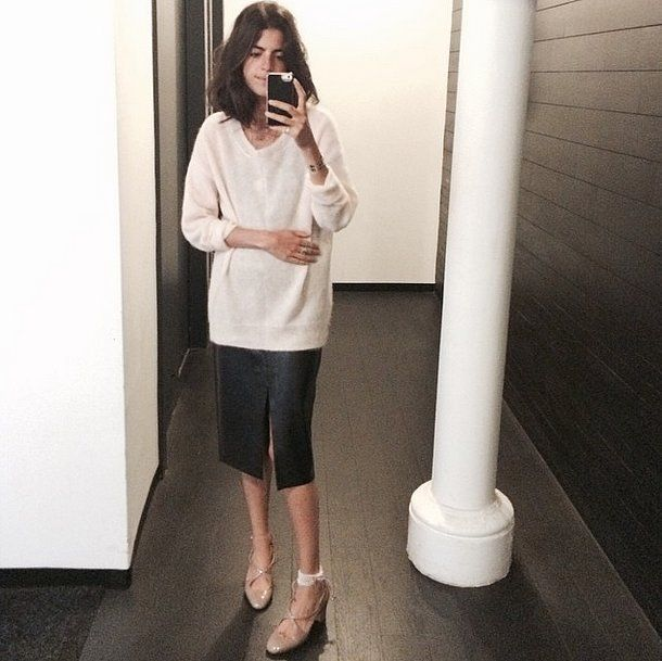 Pair the feel-good cream V-neck you wear all through Fall and Winter with a striking midi skirt. Whether it...