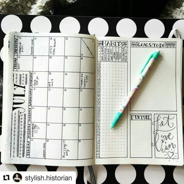 Try this for January? Not sure how many habits I actually want to track at the beginning of the year though haha! Maybe February! But I do like the calendar on one side, goals on the other layout