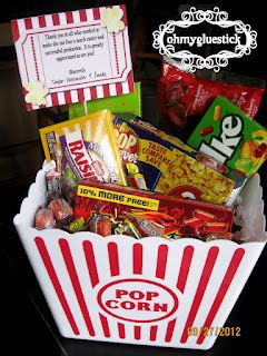 Easy movie basket for $11    Need to make these!