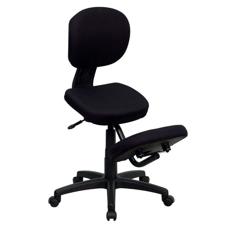 Get the comfort and support of a Kneeling Chair with the functionality of a conventional Task Chair. Regain your body's natural posture with this ergonomic kneeling chair with included back. Kneeling