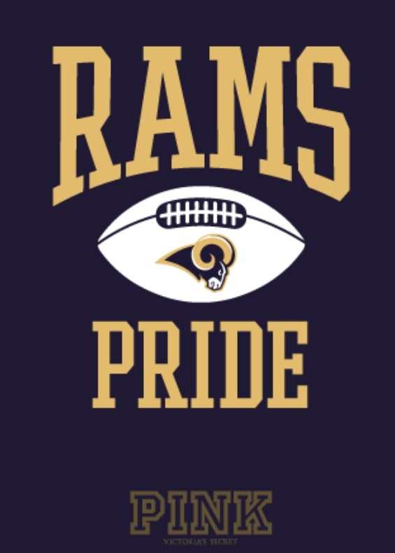 Rams. No PINK for this girl - just STL Rams pride❤ my team for years. .  Yes Rams Pride runs deep