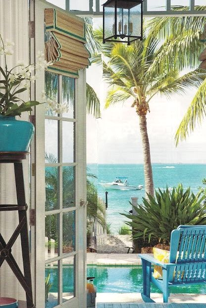 Doesn't this look divine? Most of these adorable abodes radiate with ocean blues, bright yellows and greens, tropical colors and patterns, taking inspiration from the beautiful surroundings. Gardens and courtyards are lush sanctuaries with small inviting pools to cool off in.
