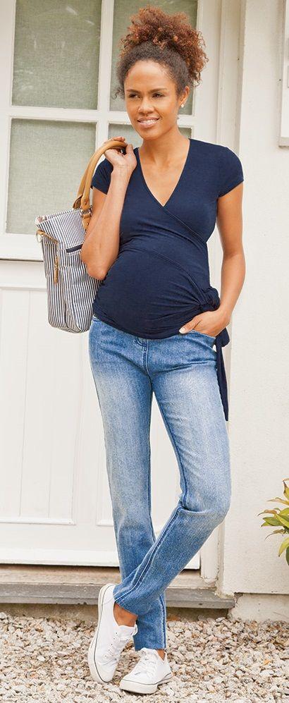 JoJo Maman Bebe Maternity short sleeve Wrap Top - #maternity
