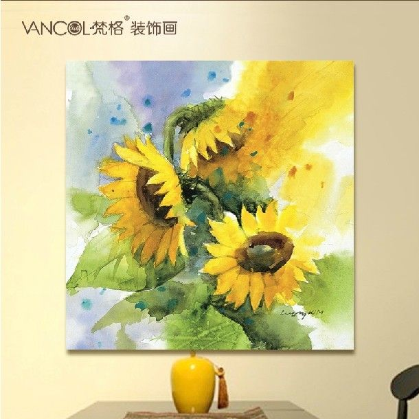 sunflower housewares | Gratis verzending canvas muur foto's zonnebloem schilderij kunst aan ...