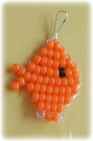 Goldfish pony beads
