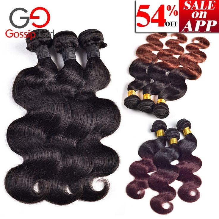Brazilian Virgin Hair Body Wave 6''-28'' Mink Brazilian Body Wave 3 Bundles Ombre Brazilian Hair Weave Bundles Remy Human Hair