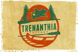 the trenanthia cottage logo featuring Philomena the flying pig (& her butt tattoo)