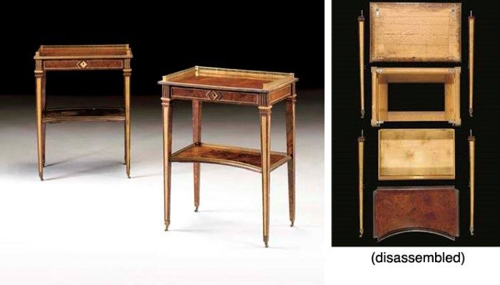 A MATCHED PAIR OF GERMAN ORMOLU-MOUNTED BURR BIRCH OCCASIONAL TABLES    ATTRIBUTED TO DAVID ROENTGEN, CIRCA 1780 - 1790