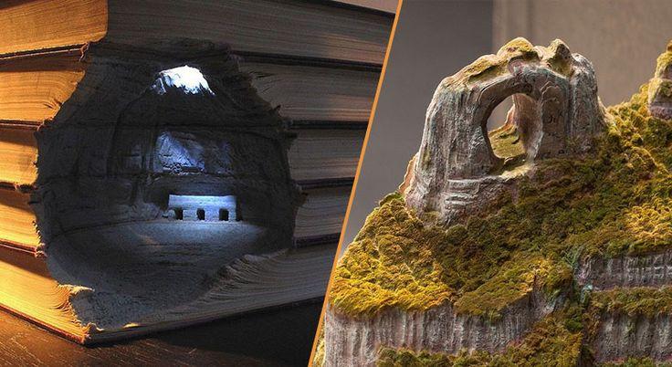 Canyons, falaises, collines ou temples, cet artiste est capable de faire apparaître chaque détail de la nature dans ses créations. Sa particularité : il utilise comme principal matériau d'anciennes…