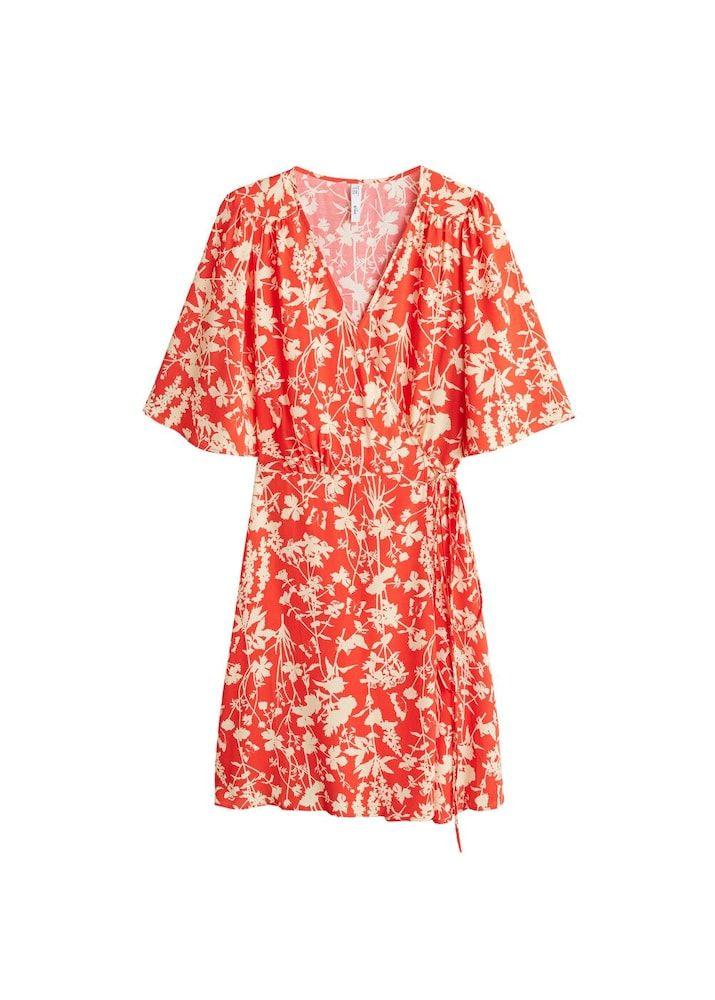 MANGO Kleid 'Red1' Damen, Beige / Rot, Größe 38 | Kleider ...