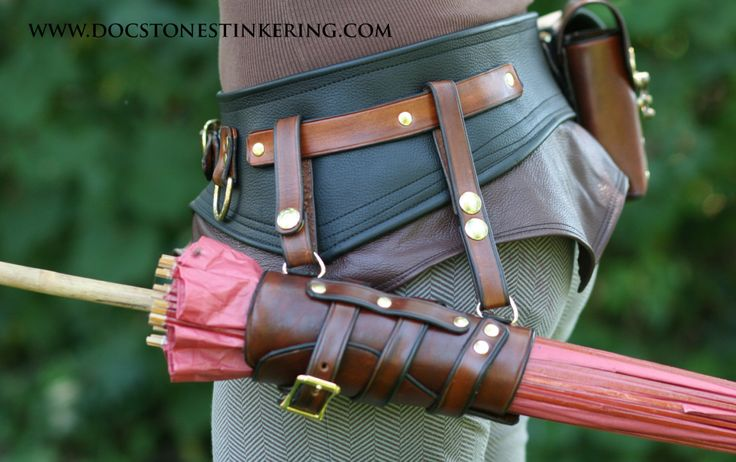 Steampunk Parasol holster by DocStonesTinkering on Etsy