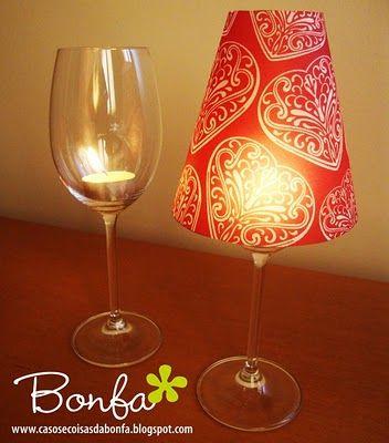 Wine Glass Lanterns