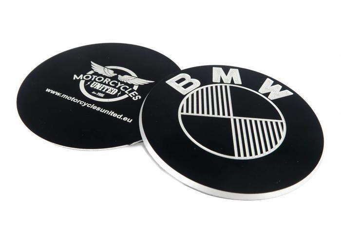 Cnc Aluminium Bmw 70mm Emblem Set Black Type 4 Bmw Emblems Type 4