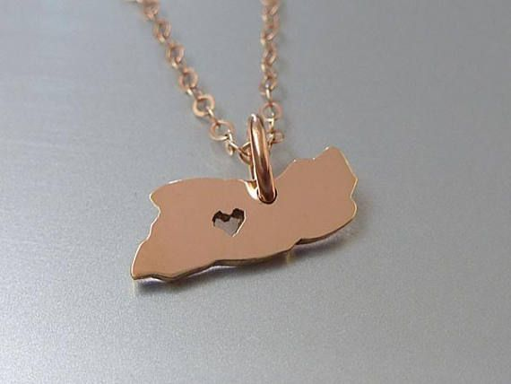 PENNY SIZED EL SALVADOR necklace in 14k rose gold filled. 1) Customize heart location - please add a note at check out indicating heart location. 2) Chain length - choose 16 or 18 14k rose gold filled. MATERIAL: .All components are 14k rose gold filled 14K GOLD FILLED =============== Is also called the next best thing to SOLID GOLD. Gold filled has been referred to as the Gold of the Future because it offers all the ...