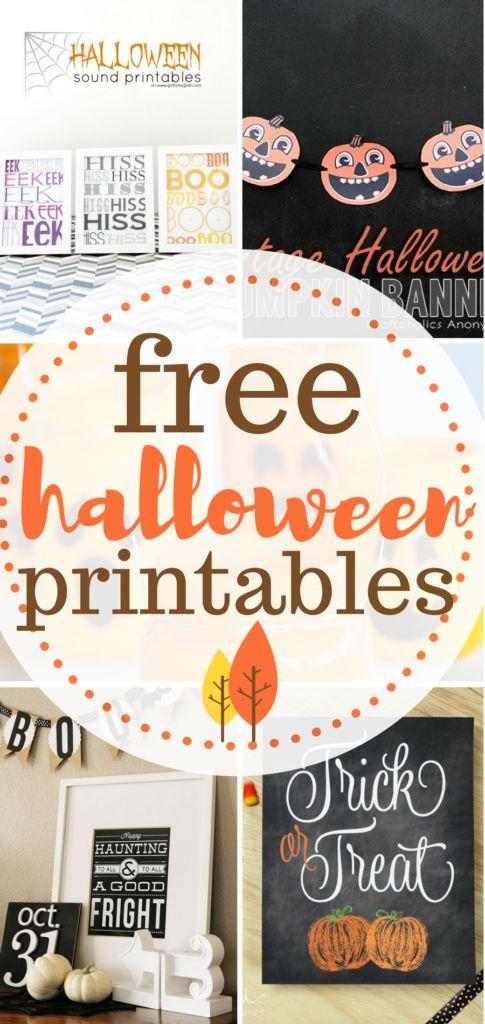 Halloween printables for free! DIY Home, Halloween, Halloween Printables, DIY Holiday, Halloween Home