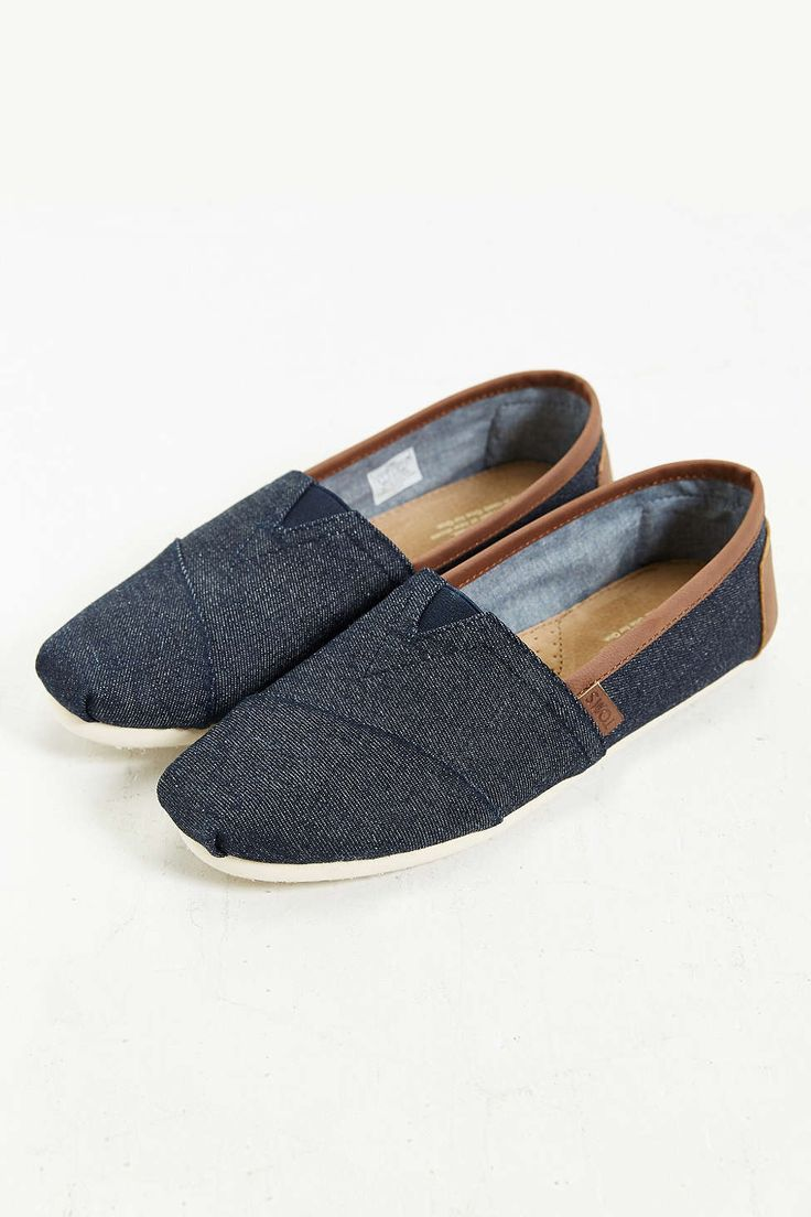 Shop TOMS Men's Classic Chambray Slip-On Sneaker at Urban Outfitters today.