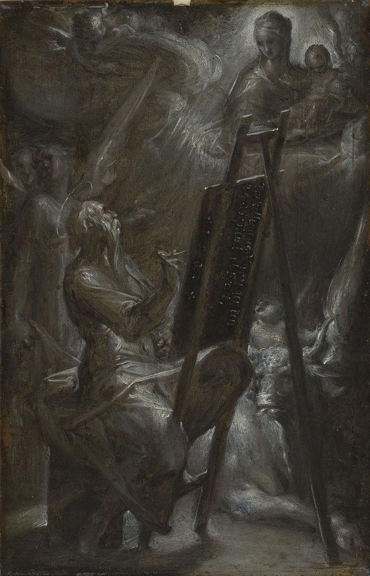 Saint Luke Painting the Virgin Mary, Mother of God // 1582 // Bartholomeus Spranger // Alte Pinakothek München