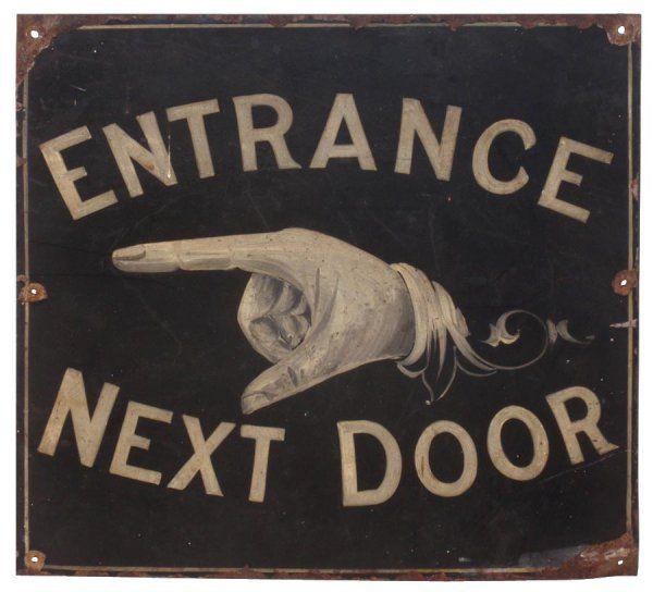 19th century sign