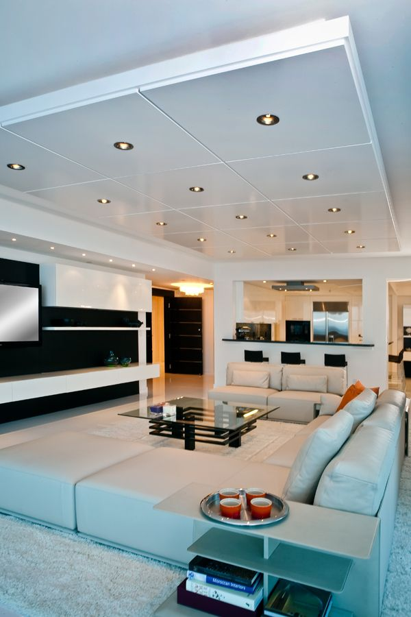 nice dropped ceiling, although overboard on lighting!