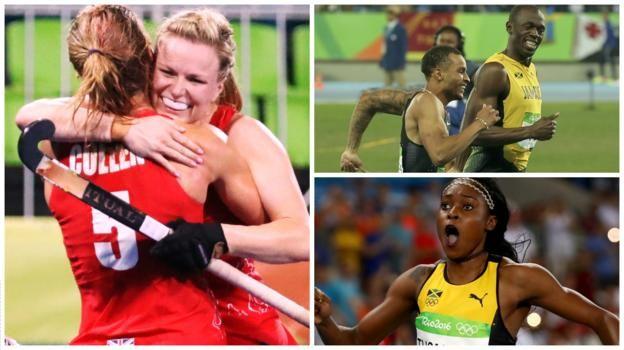 Rio Olympics 2016: GB into women's hockey final, Bolt & Farah - day 12 round-up - BBC Sport